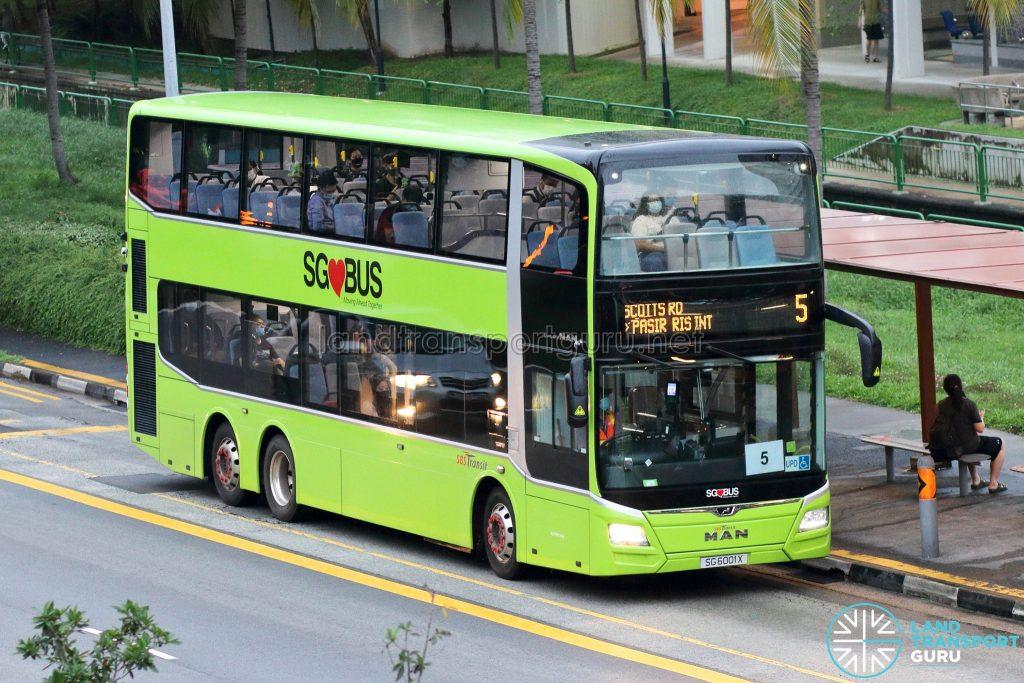 Bus 5: SBS Transit MAN A95 (SG6001X)