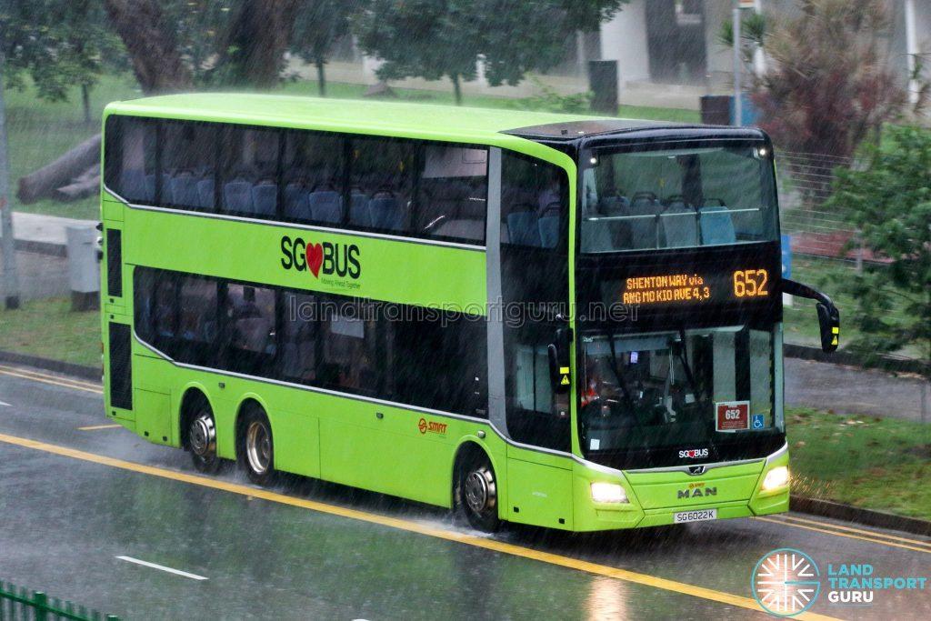 Bus 652: SMRT MAN A95 (SG6022K)
