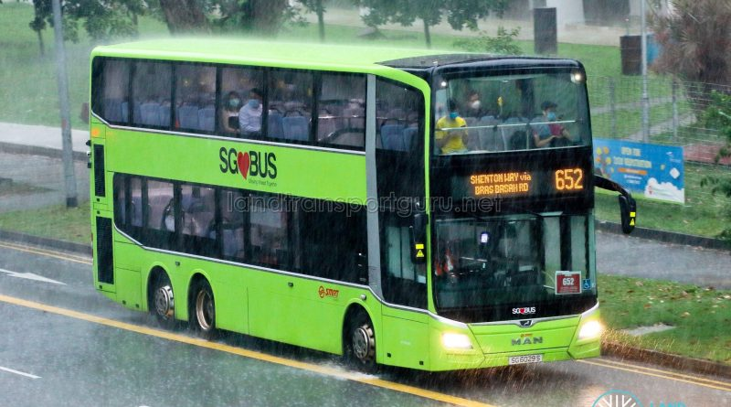City Direct 652: SMRT Buses MAN A95 (SG6029S)