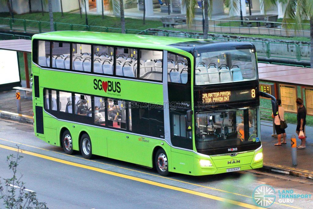 Bus 8: SBS Transit MAN A95 (SG6064P)