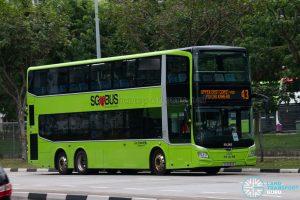 Bus 43: Go-Ahead MAN Lion's City DD A95 (SG6093E)