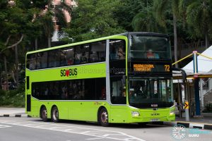 Bus 72: SBS Transit MAN Lion's City DD A95 (SG6101R)