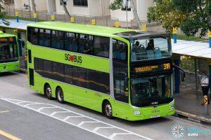 Bus 31A: SBS Transit MAN Lion's City DD A95 (SG6156H)