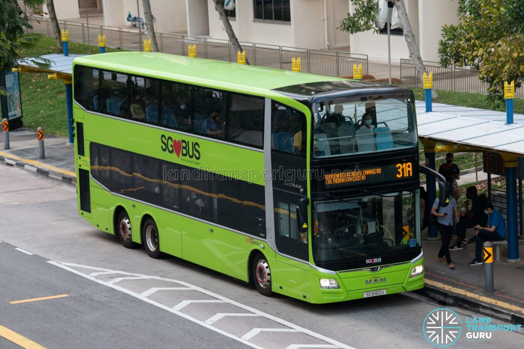 Bus 31A: SBS Transit MAN Lion's City DD A95 (SG6160U)