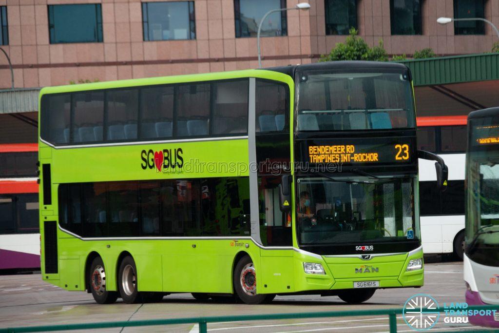 Bus 23: SBS Transit MAN Lion's City DD A95 (SG6161S)