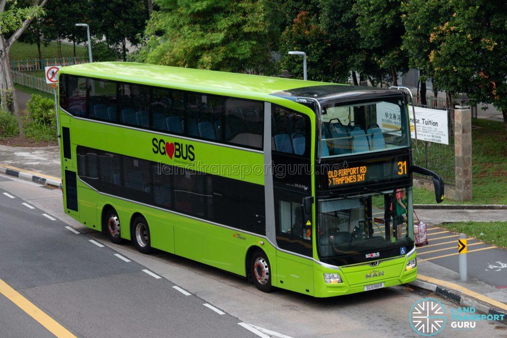 Bus 31: SBS Transit MAN Lion's City DD A95 (SG6188R)