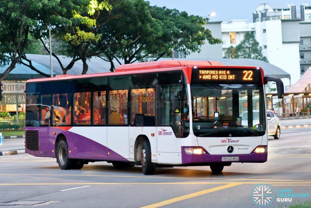 Bus 22: SBS Transit Mercedes-Benz Citaro (SBS6246U)