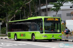 Bus 34A: Go-Ahead Mercedes-Benz Citaro (SBS6407Y)