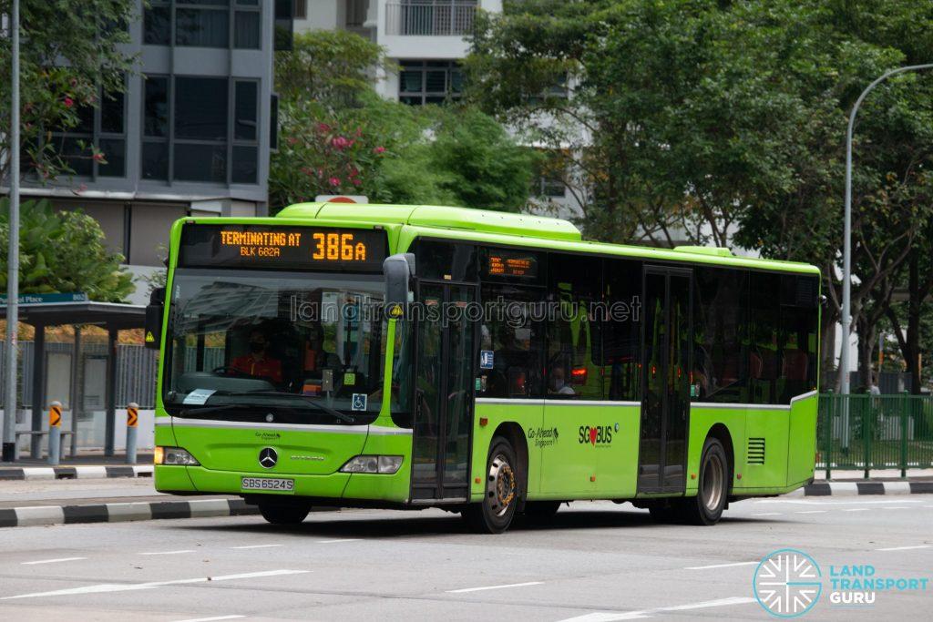 Bus 386A: Go-Ahead Mercedes-Benz Citaro (SBS6524S)