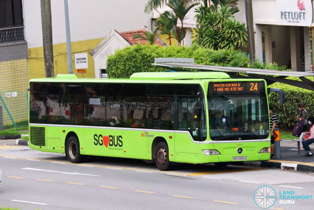 Bus 24: SBS Transit Mercedes-Benz Citaro (SBS6885A)