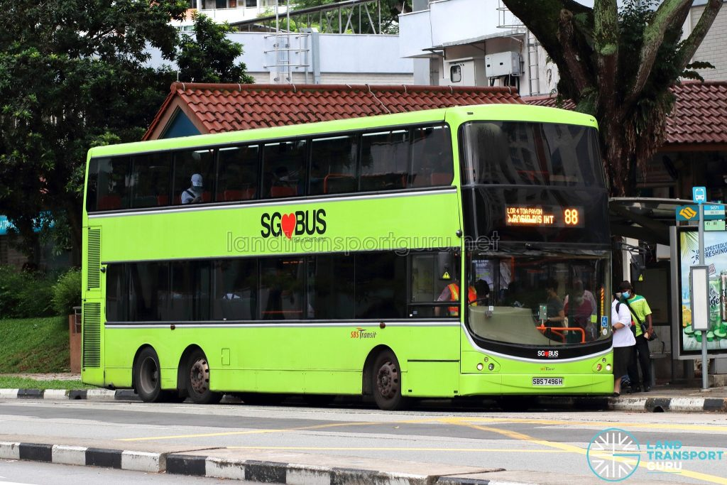 Bus 88: SBS Transit Volvo B9TL CDGE (SBS7496H)