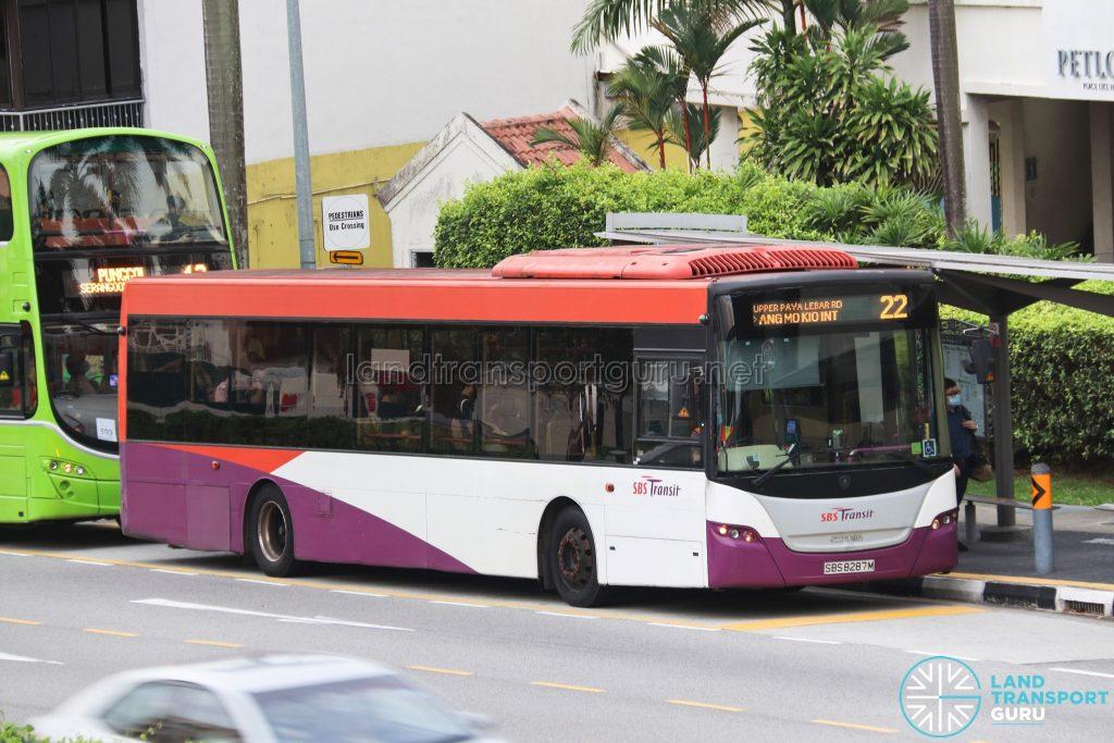 Bus 22 - SBS Transit Scania K230UB Euro IV (SBS8287M)