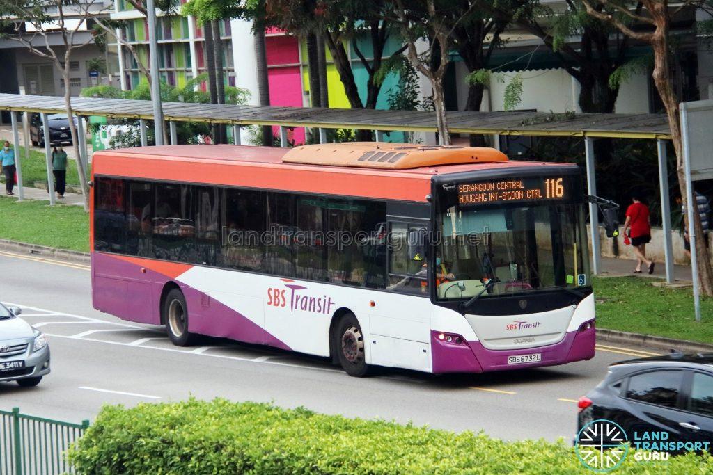 Bus 116: SBS Transit Scania K230UB (SBS8732U)