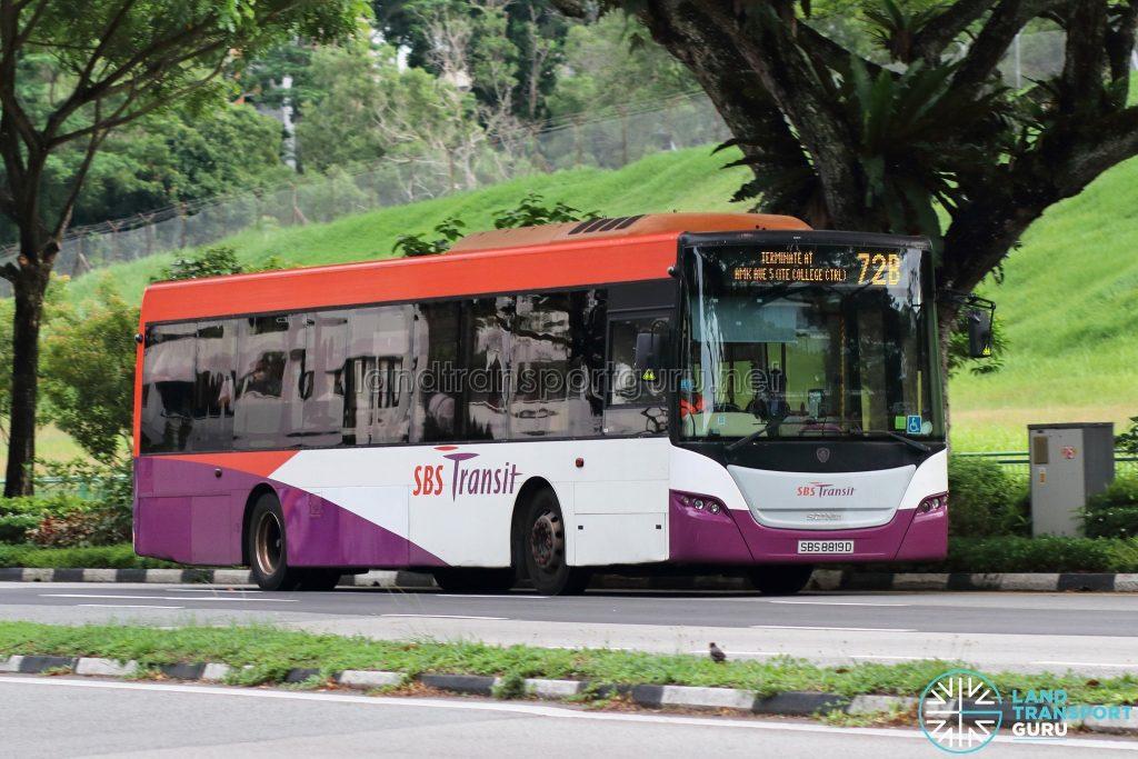 Bus 72B: SBS Transit Scania K230UB (SBS8819D)