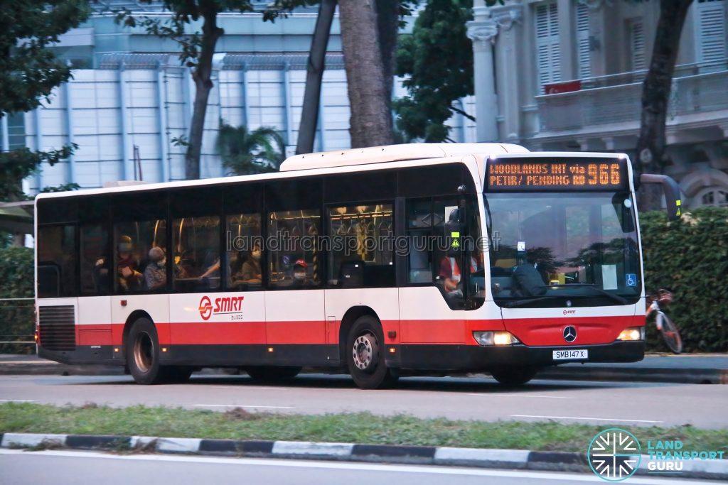 Bus 966: SMRT Mercedes-Benz Citaro (SMB147X)