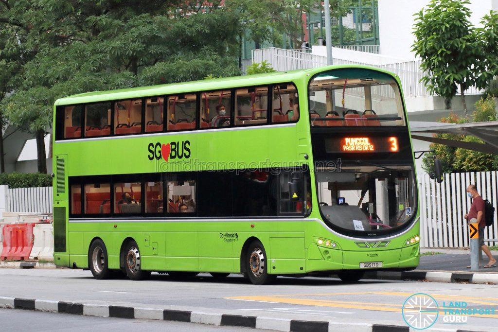 Bus 3: Go-Ahead Volvo B9TL Wright (SBS17D)
