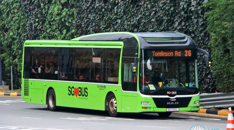 Bus 36 - Go-Ahead Singapore MAN A22 (SG1720L)