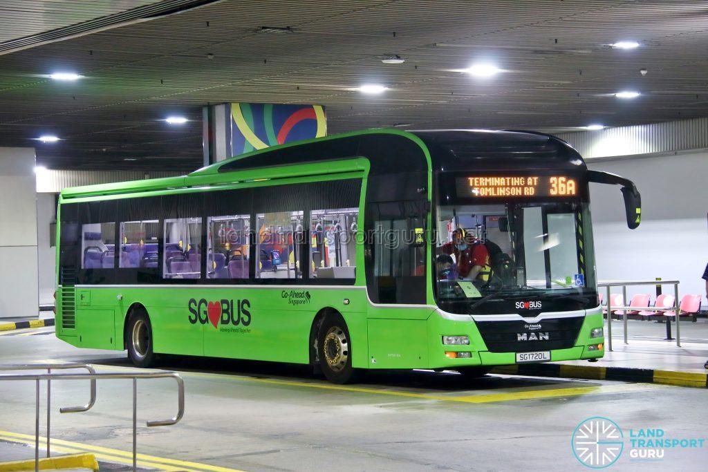 Bus 36A - Go-Ahead Singapore MAN A22 (SG1720L)