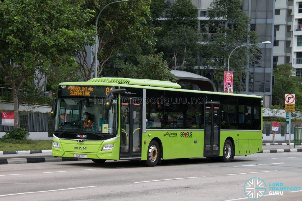 Bus 84: Go-Ahead MAN Lion's City A22 (SG1818P)