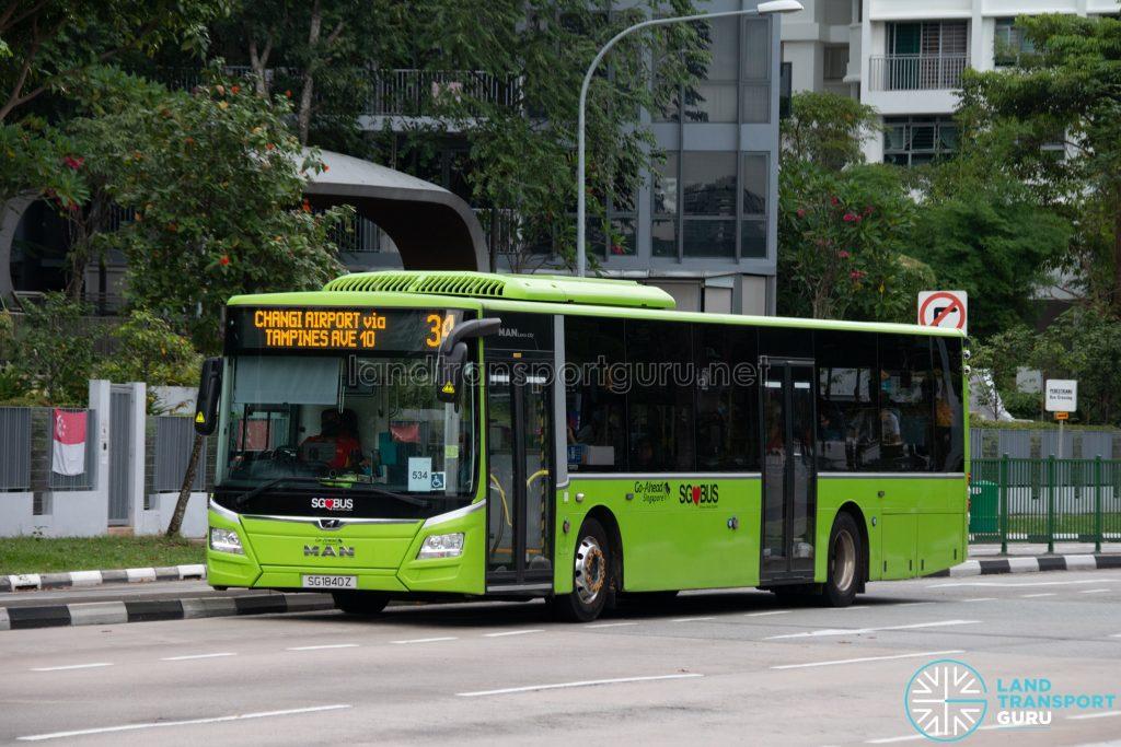 Bus 34: Go-Ahead MAN Lion's City A22 (SG1840Z)