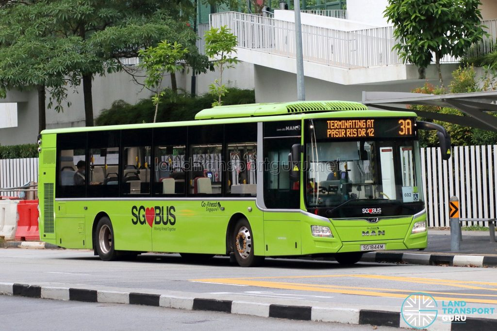 Bus 3A: Go-Ahead MAN Lion's City A22 (SG1844M)