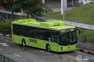 Bus 135: SBS Transit BYD K9 (SG3050Z)