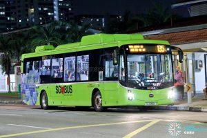 Bus 135: SBS Transit BYD K9 (SG3060U)