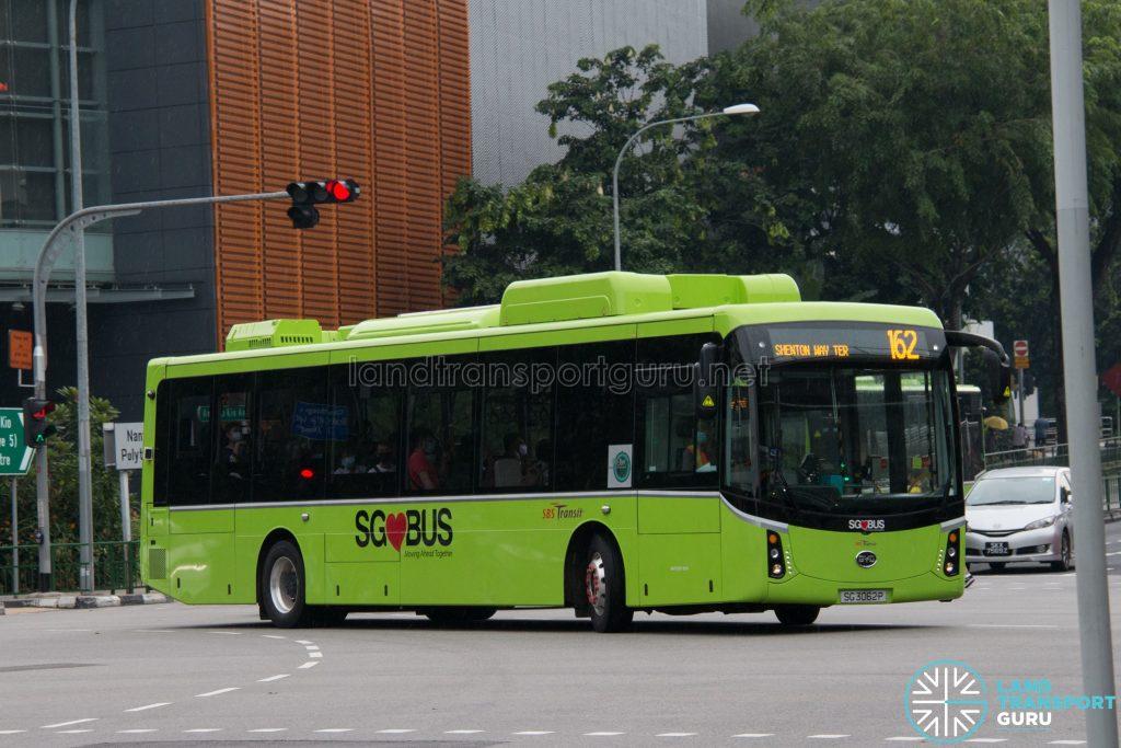 Bus 162: SBS Transit BYD K9 (SG3062P)