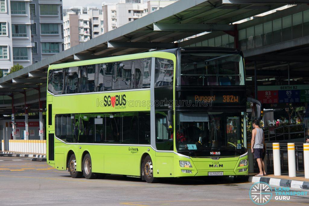 Bus 382W: Go-Ahead MAN Lion's City DD A95 (SG5920A)