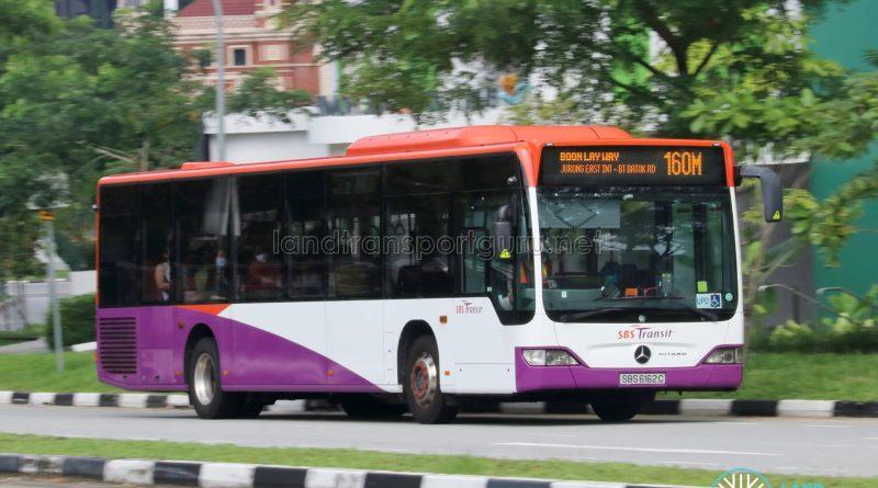 Bus 160M: SBS Transit Mercedes-Benz Citaro (SBS6162C)