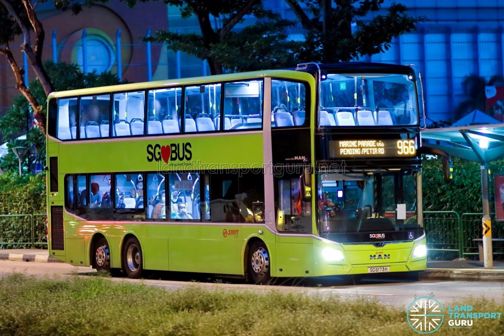 Bus 966: SMRT MAN A95 (SG6173H)