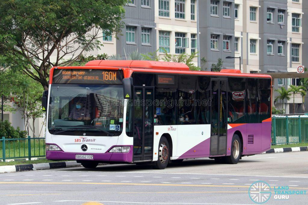 Bus 160M: SBS Transit Mercedes-Benz Citaro (SBS6270Z)