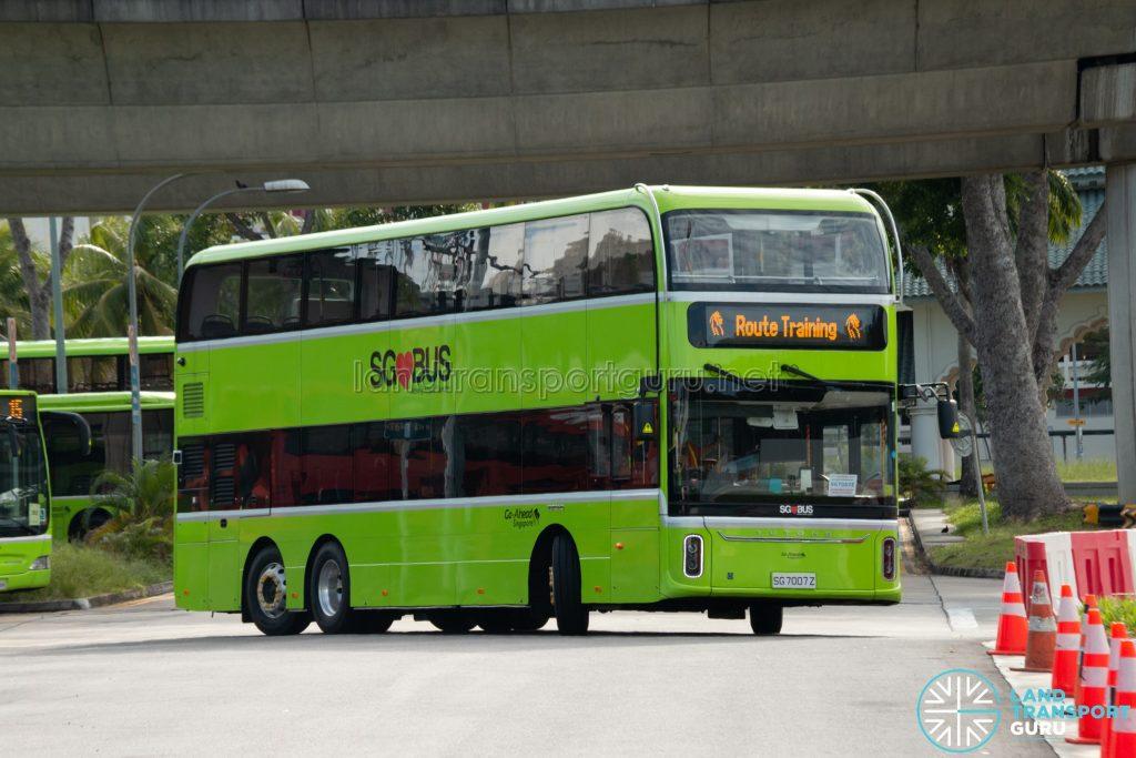 Route Training: Go-Ahead Yutong E12DD (SG7007Z)