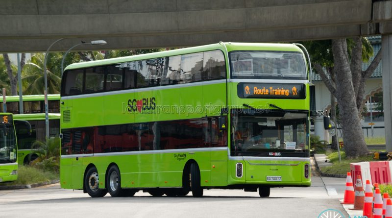 Route Training: Go-Ahead Yutong E12DD (SG7007Z)