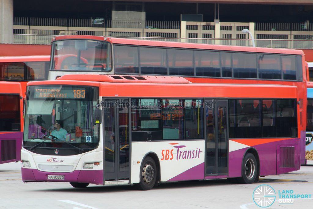 Bus 183: SBS Transit Scania K230UB Demonstrator (SBS8033D)