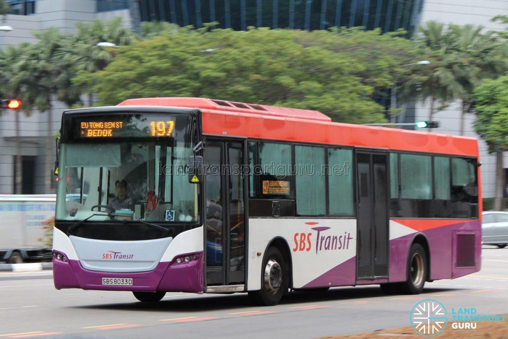 Bus 197: SBS Transit Scania K230UB Demonstrator (SBS8033D)