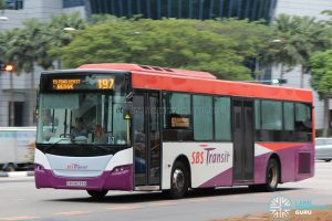 Bus 197: SBS Transit Scania K230UB Demonstrator (SBS8033D)