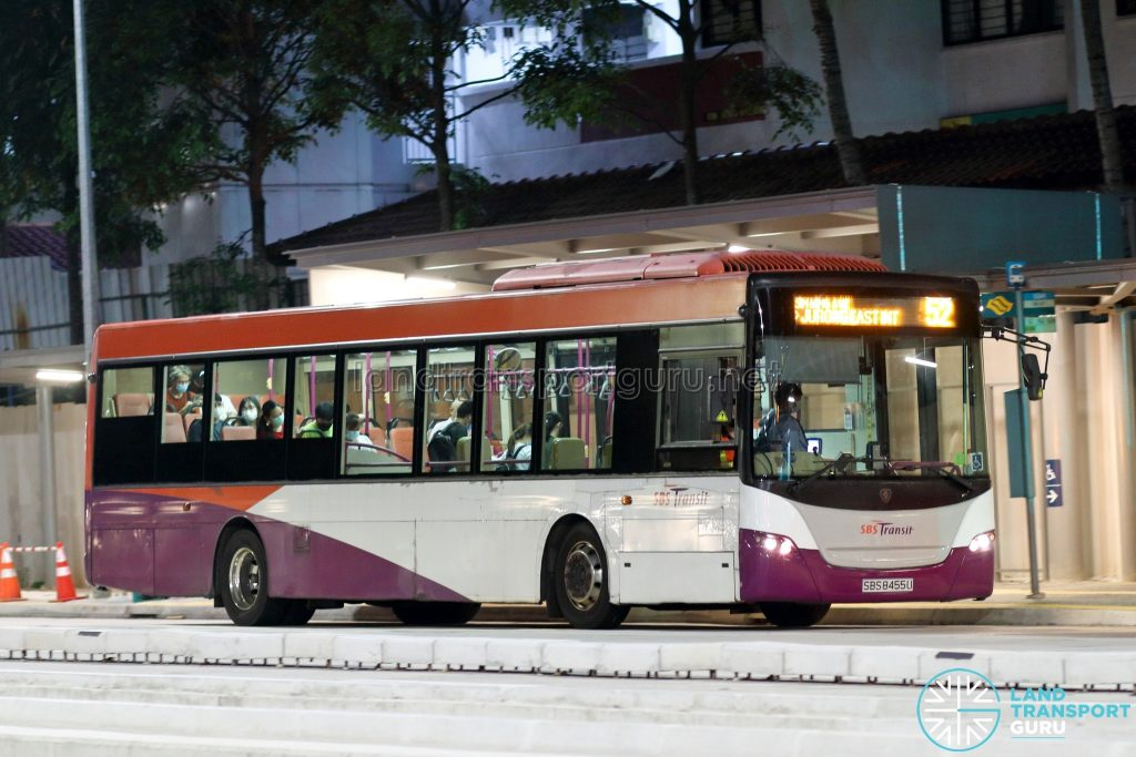 Bus 52: SBS Transit Scania K230UB (SBS8455U)