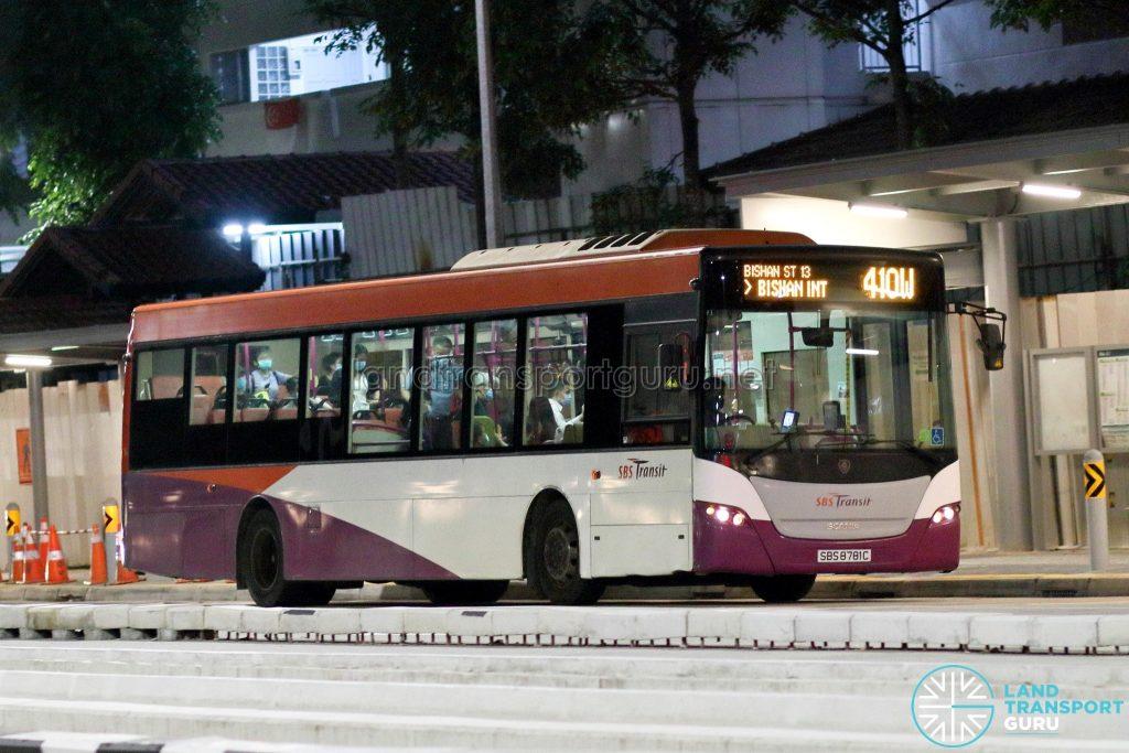 Bus 410W: SBS Transit Scania K230UB (SBS8781C)