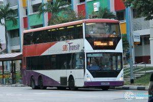 Bus 28 - SBS Transit Volvo B10TL CDGE (SBS9889U)