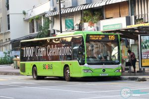 Bus 135: SBS Transit Mercedes-Benz Citaro (SG1000G)