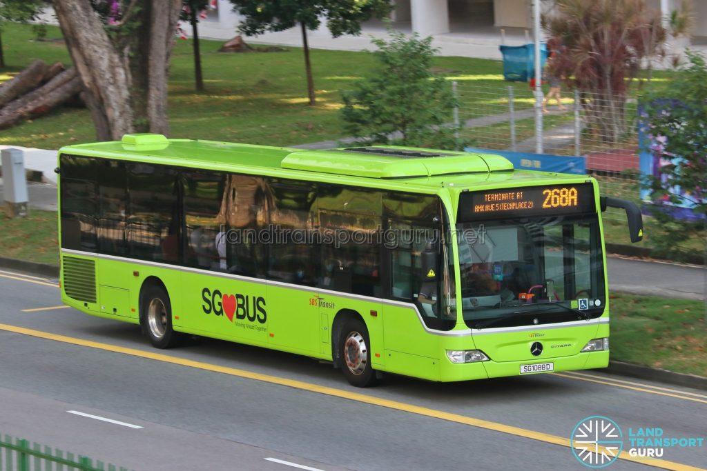 Bus 268A: SBS Transit Mercedes-Benz Citaro (SG1088D)