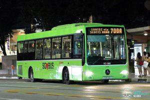 Bus 700A: SMRT Mercedes-Benz OC500LE (SMB134H)
