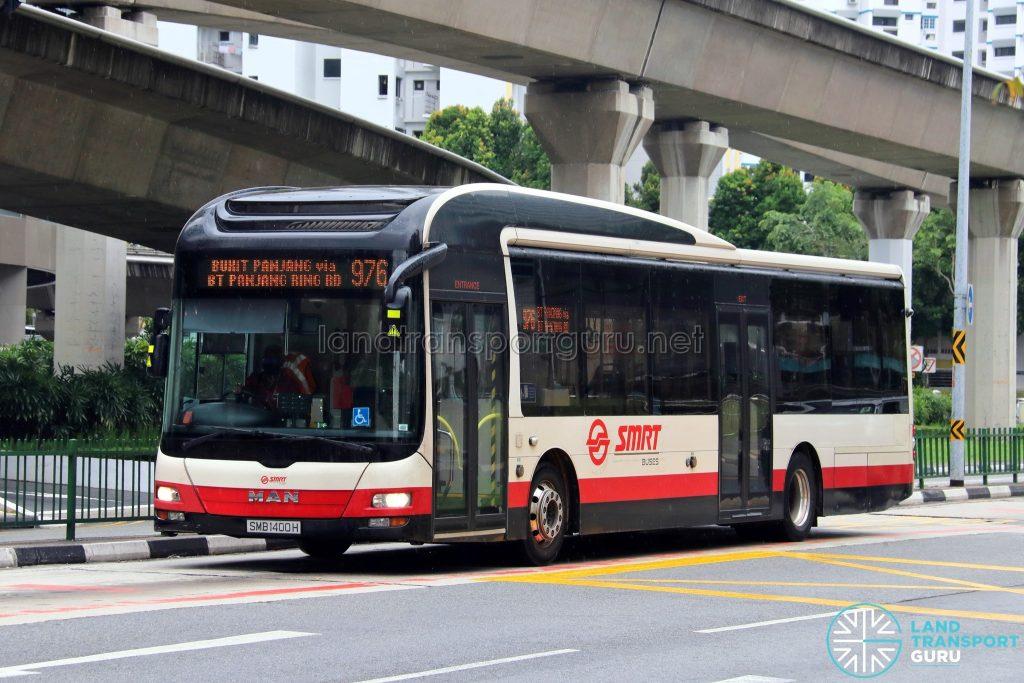 Bus 976: SMRT MAN Lion's City A22 (SMB1400H)