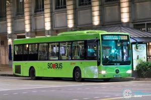 Bus 700A: SMRT Mercedes-Benz OC500LE (SMB15T)