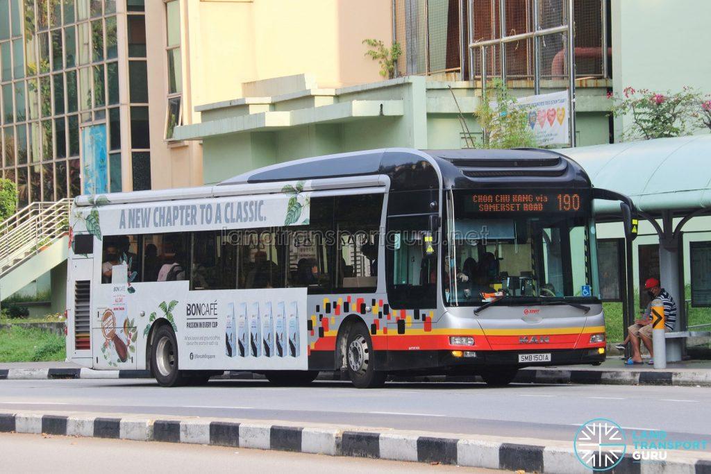 Bus 190: SMRT MAN A22 (SMB1501A)