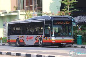 Bus 307T: SMRT MAN A22 (SMB1582R)