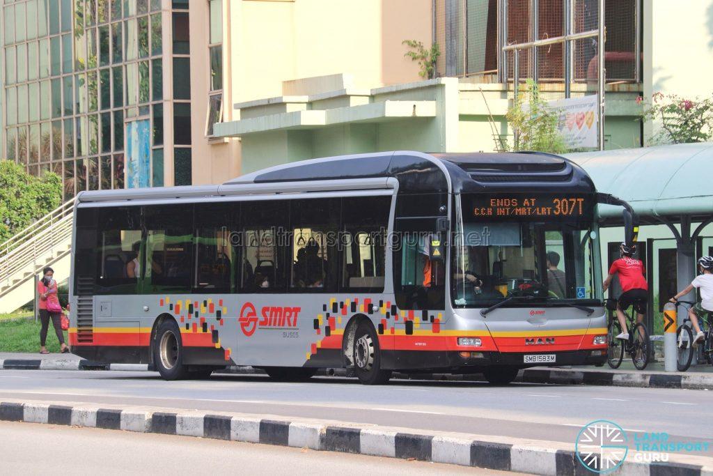 Bus 307T: SMRT MAN A22 (SMB1583M)