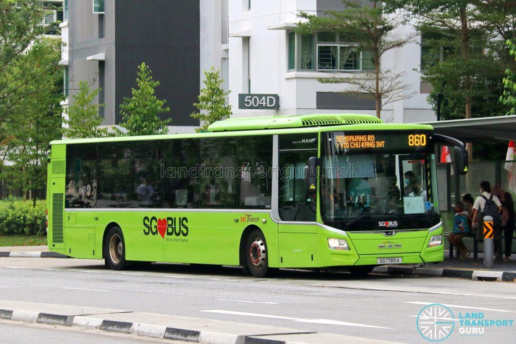 Bus 860: SBS Transit MAN Lion's City A22 (SG1785A)