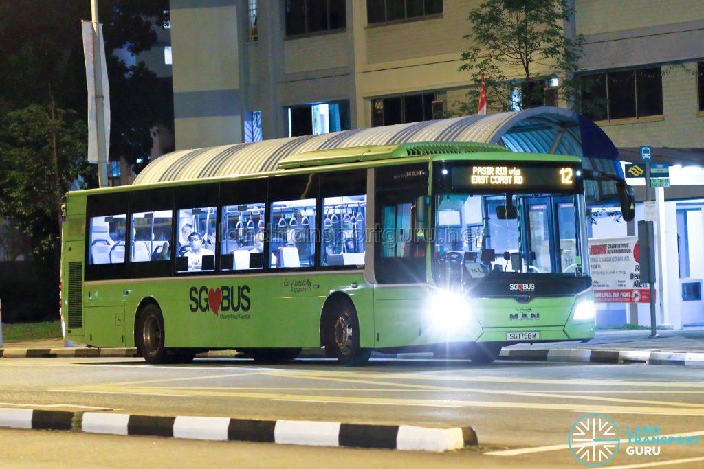 Bus 12 - Go-Ahead Singapore MAN A22 Euro 6 (SG1798M)